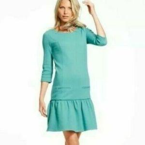 Boden 4 Suzie Ponte Drop Waist Knit Ruffle Dress